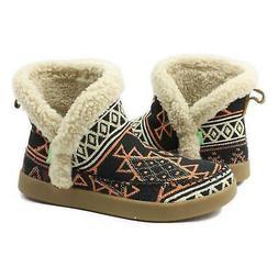 Sanuk Womens Nice Bootah TX Boots San Juan Black 7 New