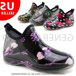 Womens Outdoor Rain Gardening Shoes Boots in Fashion Print R