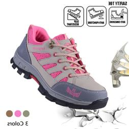 Womens Outdoor Safety Steel Toe Work Boots Breathable Hiking