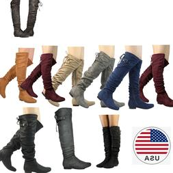 DREAM PAIRS Womens Over The Knee Boots Thigh High Slouch Sue