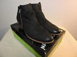 Sam Edelman Womens Packer Black Leather Ankle Boots Zipper B