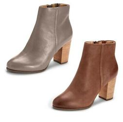 Vionic Womens Perk Kennedy Leather Fashion Ankle Boots
