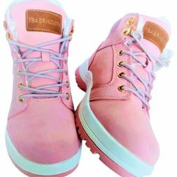 Womens Pink Warm Outdoor Hiking Boots Size 6