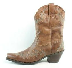 Ariat Womens Potrero Antique Nutmeg Cowboy, Western Boots Si