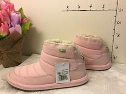 Sanuk Womens Puff N Chill Boots Chalk Pink Size 9 new #58