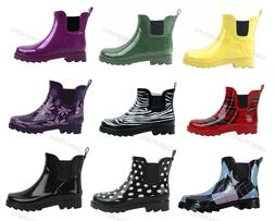 womens rain boots rubber short ankle wellies