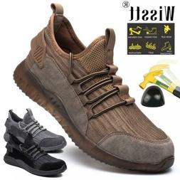 Womens Safety Shoes Steel Toe Mesh Work Boots Hiking Constru