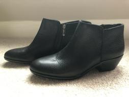 womens sam edelman petty pebble black leather