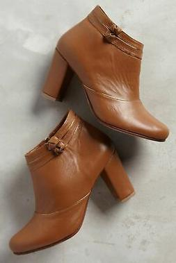 Luiza Perea Womens Santos Leather Booties Boots Tan Brown 36