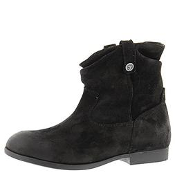 Birkenstock Womens Sarnia Boots Black Waxed Suede Size 38 EU