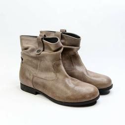 Birkenstock Womens Sarnia Mud Brown Leather Ankle Boots Size