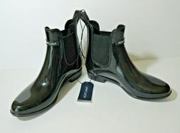 Nautica Womens Size 6 Black Low Rain Boots Shayna 2S6391 Pul