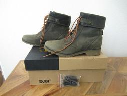 Teva Womens Size 8.5 Olive Leather De La Vina Lace 1013951 A