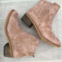 Womens REEF Suede Voyage Ankle Boots~Size 6~Taupe Tan
