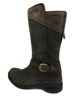 Merrell Womens Sz 8.5 Boots Captiva Waterproof Brown Leather
