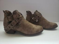 Womens Rampage Taupe Ankle Boots/ Booties Size 7M