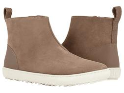Womens  Birkenstock Taupe Suede Ankle Boots Booties Cork Foo