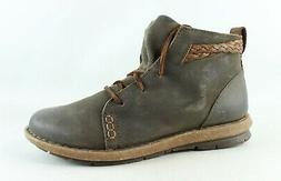 Born Womens Temple Taupe Ankle Boots Size 11