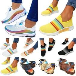Womens Tie Dye Lace-up Flat Trainer Sneakers Boots Rainbow F