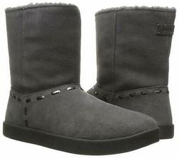 Sanuk Womens Toasty Tails Short Boots Grey 7 New