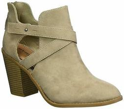 Rampage Womens Vedette Closed Toe Ankle Fashion Boots, taupe