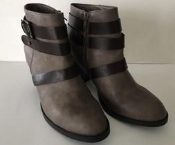 """RAMPAGE Womens VINCI ANKLE BOOTS - Taupe/Brown - Size 9.5"""" -"""