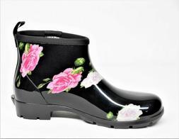 Sloggers Womens Waterproof Half Boots Spring Rose 9M EUC