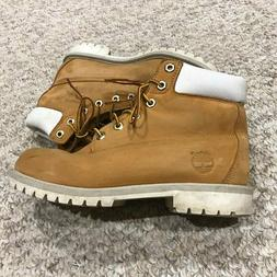 Timberland Womens White Trim Classic Work Boots 8W 6Y