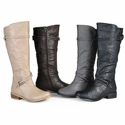 Journee Collection Womens Wide and Extra Wide Calf Ankle Str