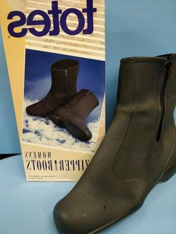 Totes Womens Zipper Boots Overshoes
