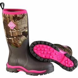 Muck Boots Women Woody PK Tall Winter Hunting Camo Pink Br W