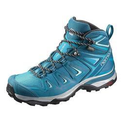 Salomon X Ultra 3 Mid Gtx Womens Hiking Boot Turquoise 38 US
