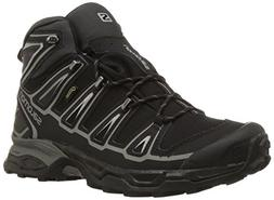 Salomon Men's X Ultra Mid 2 GTX-M, Black/Aluminum, 7 M US
